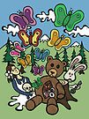 Teddy Bear And Bunny - Nervous by Brett Gilbert
