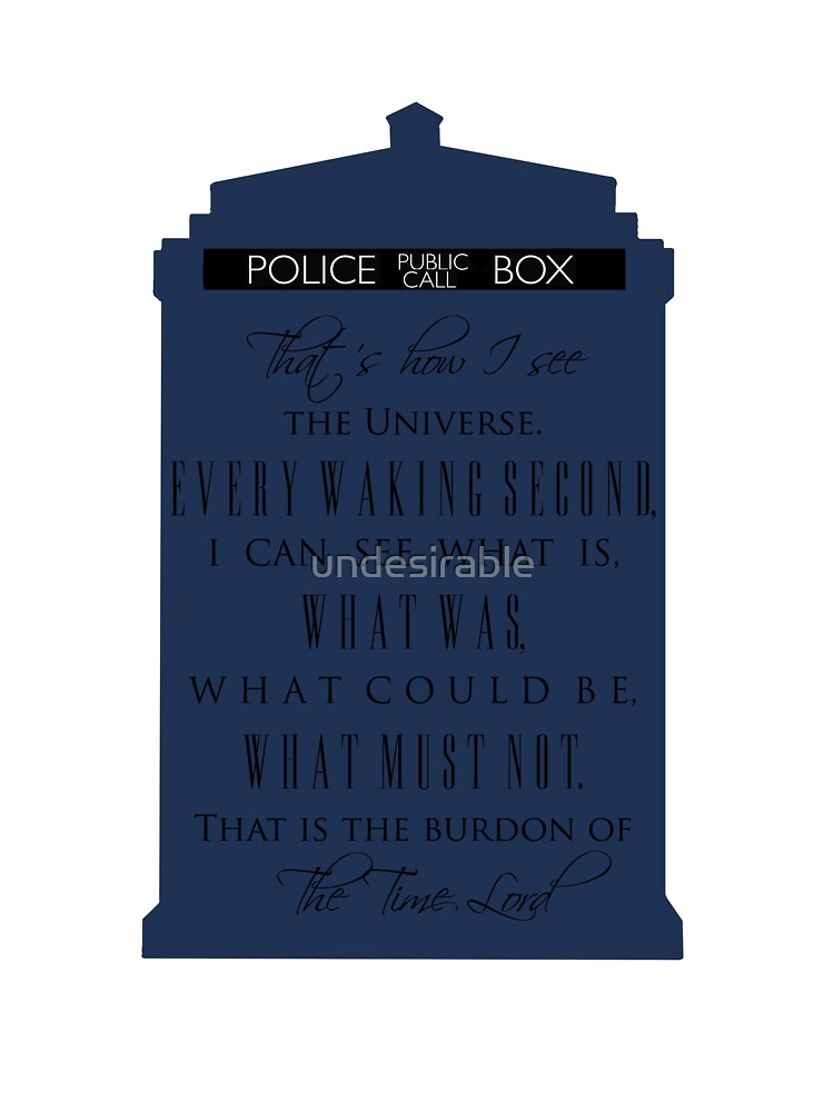 The Burden of the Time Lord by undesirable