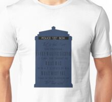 The Burden of the Time Lord Unisex T-Shirt
