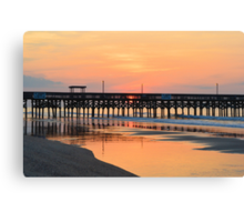 Morning Pier Canvas Print