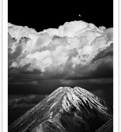 'Volcano'  (urban gravel mounds :) Sticker