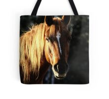 Golden Horse Portrait Photo Tote Bag