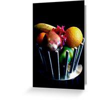modern fruit bowl Greeting Card