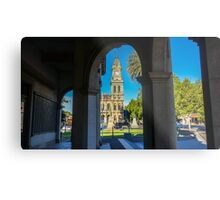 View the Old Town Hall from the Soldiers Memorial - Bendigo Metal Print
