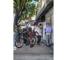 Daily Life on Bay Street in Downtown Nassau, The Bahamas Photographic Print