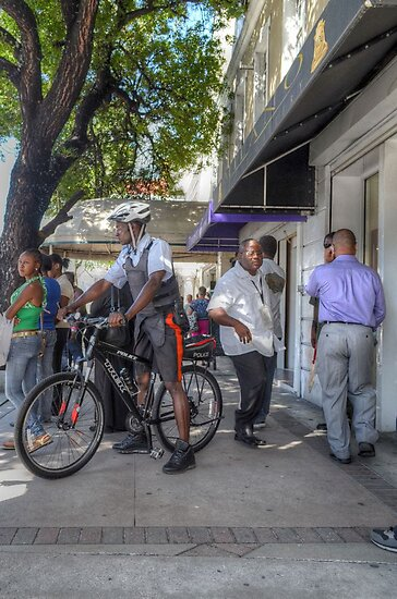 Daily Life on Bay Street in Downtown Nassau, The Bahamas by Jeremy Lavender Photography