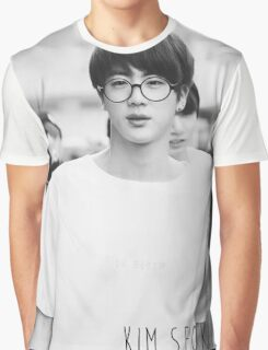 BTS/Bangtan Sonyeondan - Black & White Jin Graphic T-Shirt