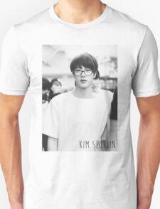 BTS/Bangtan Sonyeondan - Black & White Jin Unisex T-Shirt