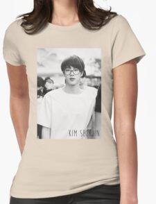 BTS/Bangtan Sonyeondan - Black & White Jin Womens Fitted T-Shirt