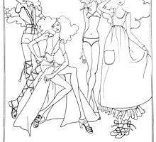 """Helga's Fashion Mannequins Series Poster 4 Bikini""© by HelgaFCrosby"