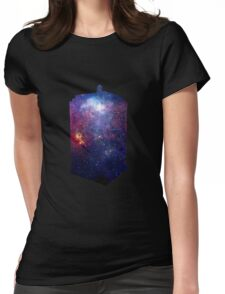 Police Box Space Womens Fitted T-Shirt
