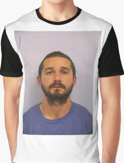 Shia Labeouf Mugshot Graphic T-Shirt