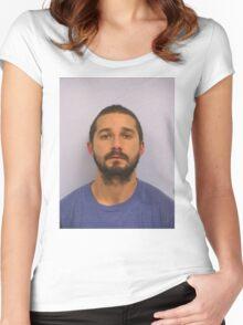 Shia Labeouf Mugshot Women's Fitted Scoop T-Shirt