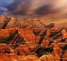 Sunset over Badlands National Park .6 by Alex Preiss