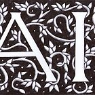 William Morris Inspired AI Monogram by Donna Huntriss