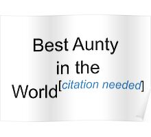 Best Aunty in the World - Citation Needed! Poster