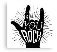 You rock. Heavy metal music horn Canvas Print