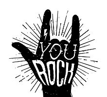 You rock. Heavy metal music horn Photographic Print