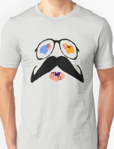 Funny Face with Mustache T-Shirt