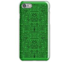 Doodled - Green Envy iPhone Case/Skin