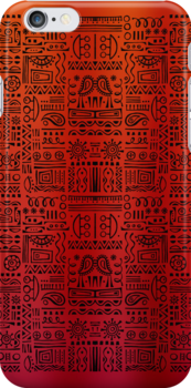 Doodled - The Royal Reds by LivinAloha