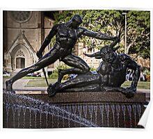 Sculpture in Hyde Park, Sydney Poster