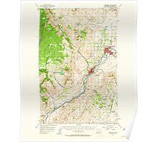 USGS Topo Map Washington State WA Okanogan 242918 1957 62500 Poster