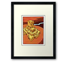 A Lonely Canyon Community Framed Print