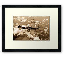 Battle of Britain Spitfire sepia version Framed Print