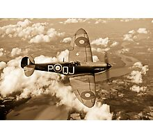 Battle of Britain Spitfire sepia version Photographic Print
