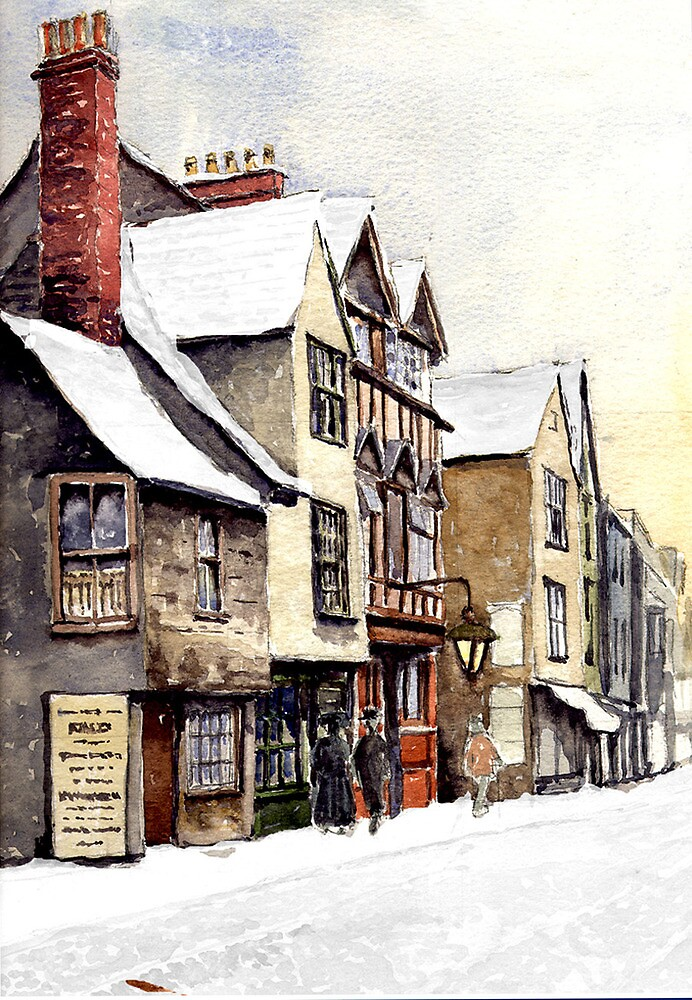 Old Tudor buildings. by Mike Lester