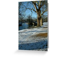River Cherwell meets the Thames. Greeting Card