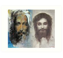 Son of God, Son of Man Art Print