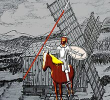 Don Quixote Meets a Giant iPhone case by Dennis Melling