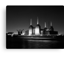 Battersea Power Station at Night Canvas Print