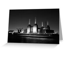 Battersea Power Station at Night Greeting Card
