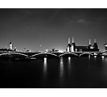 Battersea Power Station at Night Photographic Print
