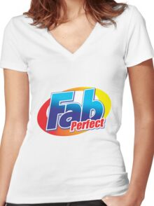FAB T for Adults Women's Fitted V-Neck T-Shirt