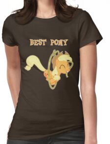Applejack Lasso Trick With Text Womens Fitted T-Shirt