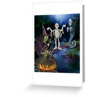 GHOUL'S NITE OUT Greeting Card