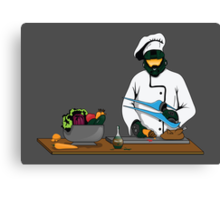 Master Chief / Chef ? Canvas Print