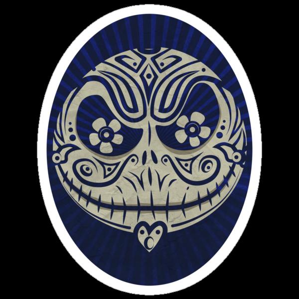 Jack de los Muertos (sticker) by synaptyx