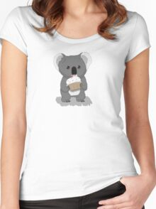 Koala and Cupcake Women's Fitted Scoop T-Shirt