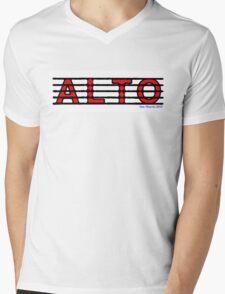 Alto Red Mens V-Neck T-Shirt