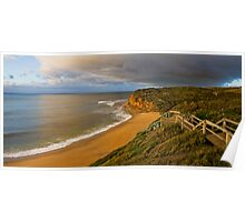 Early Morning at Bells Beach Panorama Poster