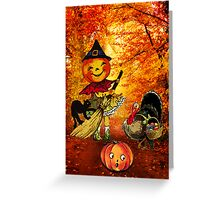SWEEPING IN THE HOLIDAYS! Greeting Card