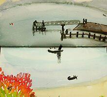 swansea jetty, tasmania by donna malone