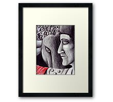 Corrida colored pencil drawing Framed Print