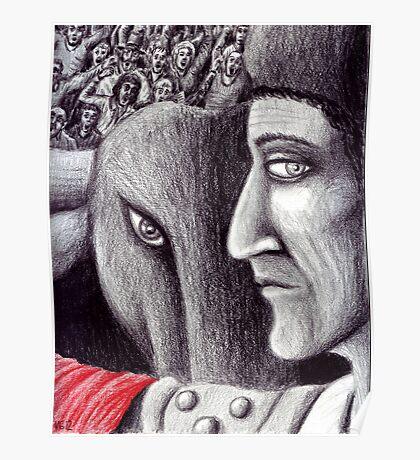 Corrida colored pencil drawing Poster