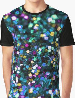 Black Glitter Tumblr Inspired  Graphic T-Shirt